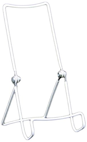 Gibson Holders Three Wire Display Stand for Kindle, iPad, DVD's, and More, Set of 2, White (3AC-W)