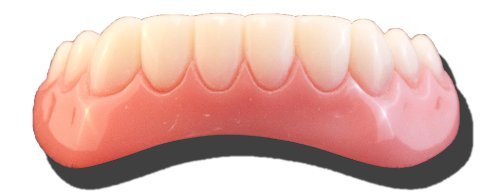Billy Bob Secure Smile Novelty Temporary Cosmetic Lower Teeth Makeover Toy ()