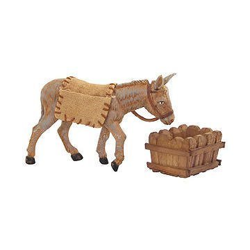 (Fontanini Mary's Donkey Animal Italian Nativity Village Figurine 3 Piece Set)