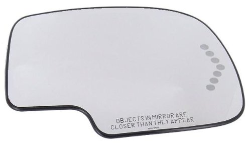 Discount Starter and Alternator 1649GR-S Chevrolet Suburban Passenger Side Replacement Mirror Glass W/Support W/Heater W/Turn Signal W/Auto Dimming