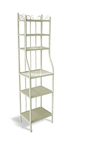 Libreria Metallo E Vetro.Kechao Co Limited Libreria In Metallo Cream Con Ripiani In Vetro