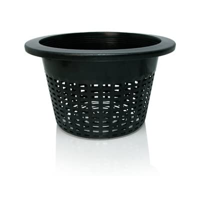 "Hydrofarm HG10MESHPOT Wide Lip, 10"", Bag of 50 Bucket Basket Lid, Black : Planters : Garden & Outdoor"