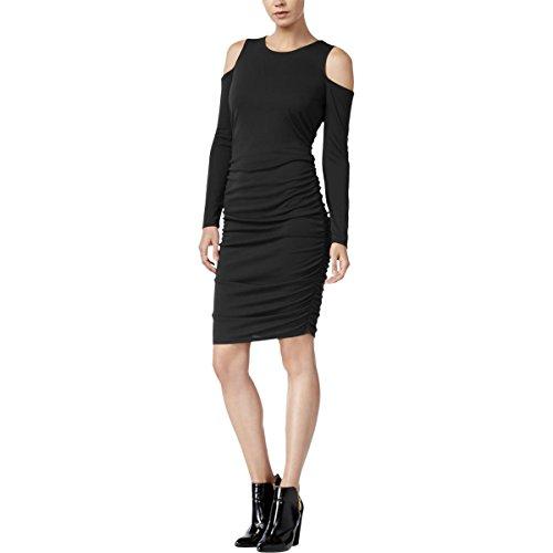 - Bar III Womens Glasgow Cold Shoulder Bodycon Cocktail Dress Black M