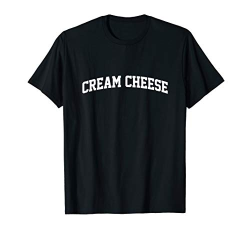 Cream Cheese Vintage Sports Arch Funny T-Shirt (Dill Dip With Cream Cheese And Mayo)