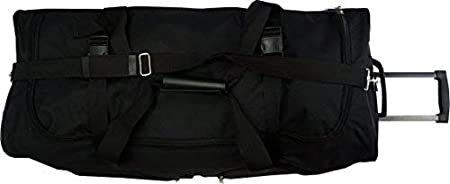 40, Black 30//36 Polyester Rolling Wheeled Duffel Bag Travel Duffel on Wheel