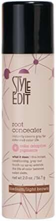Root Concealer (Medium/Light Brown) 2oz by Style Edit ® Factory Fresh.