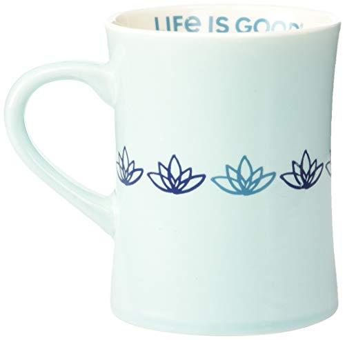 Bermuda Mug - Life is Good Diner Mug Life is Good Lotus, Bermuda Blue, One Size