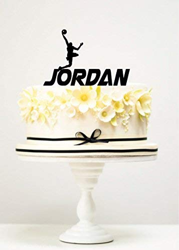 Decoración para tarta de baloncesto para jugador de jordano ...