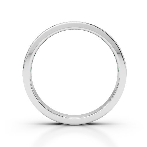 G-H/VS 0,51 CT Coupe ronde Certifié Émeraude et diamants en platine 950 Agdr-1135