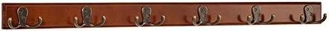 LIANGLIANG 壁掛けフック 合金フック一列二方向ハンガー無垢材2色3サイズあり (色 : 白, サイズ さいず : 78 * 4.5 * 5.5cm)