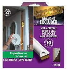 color marr/ón STORMGUARD B009XDZBRC P Profile WHITE-10M EPDM Burlete de goma y espuma para ventana o puerta