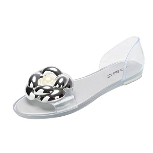 Transer Ladies Flat Slippers Fashion Women Comfortable Casual Sandals Beach Sandals Shoes Silver sEAyDFlE8v