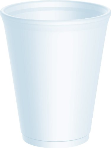 25 x Dart 10oz Foam Cups With Standard Lids - Ideal for Takeaways. For Coffee, Tea etc. Dart Products 25 x 10LX10-10JLPF