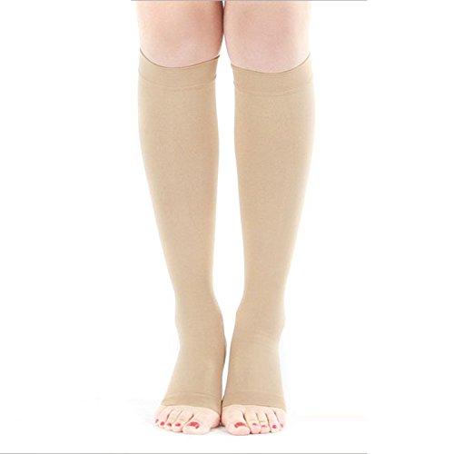 17c24a0c96 Unisex Casual Elastic Slim Leggings Compression Knee High Toeless ...