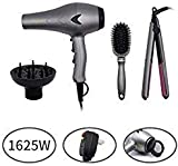 1625W Lightweight DC Motor Low Noise Hair Dryer Set, 2 Speeds and...