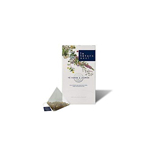 LA TETERA AZUL Te Verde Sencha Japones Ecologico Con Aroma De Jazmin Infusion Organica En Piramides Te Verde & Jazmin 20 Piramides