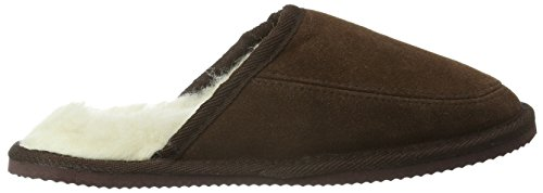 SNUGRUGS Suede with Wool Lining and Rubber Sole - Zapatilla baja Unisex adulto Marrón (Brown)