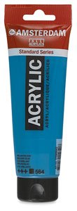 Talens : Amsterdam Acrylic 120ml tube NAPLES YELLOW GREEN