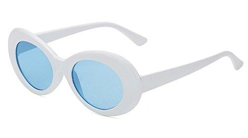 blue Del white De TIANLIANG04 Sol Negro Uv400 Plástico Gafas Negro with Hombres Sol De Oval qxgB46x