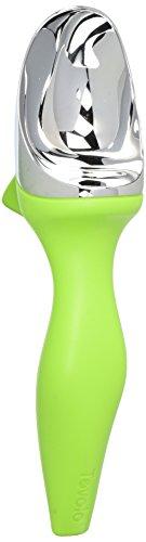 Tovolo Tilt Up Ice Cream Scoop, Ergonomically Balanced Handle, Chrome Plated, Dishwasher Safe, Spring - Cream Case Scoop Ice