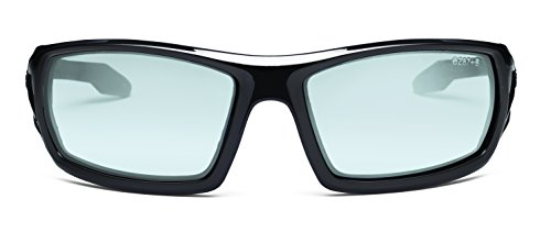 Ergodyne Skullerz Odin Safety Sunglasses - Black Frame, Blue Mirror Lens 2