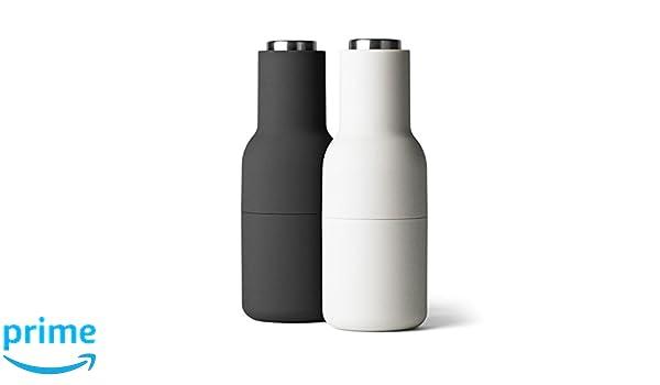 Menu + Bottle - Molinillo de Sal y Pimienta (2 Unidades, Ash/Carbon 20 cm con Tapa de Acero Inoxidable: Amazon.es: Hogar