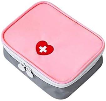 Star Grupo Mini Rosa al Aire Libre/Kit Gris Auxilios para Medicina de Viaje Cajas de Pastillas primeras Bolsas botiquín Bolsas de Almacenamiento pequeña clasificación Bolsas