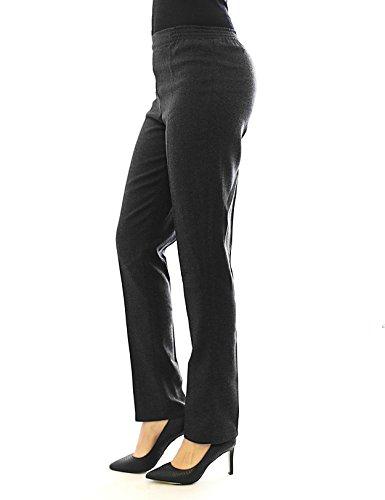 Caldo Körpergröße158cm Donna Cotone Thermo 48 Grigio 5xl Business Pantaloni Elastica Pile Cintura AwMTSFcdRq