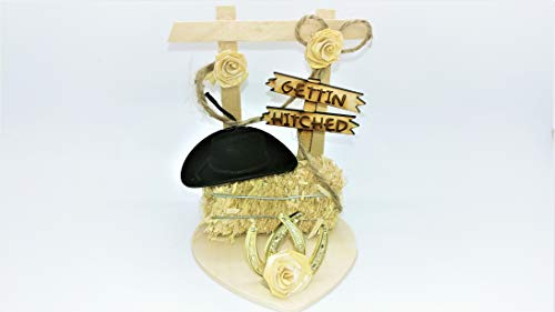 - Gettin' Hitched Western Wedding Cake Topper or Table Decoration