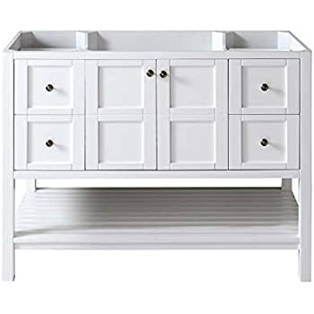 Virtu Usa Es 30048 Cab Wh Winterfell Bathroom Vanity 48
