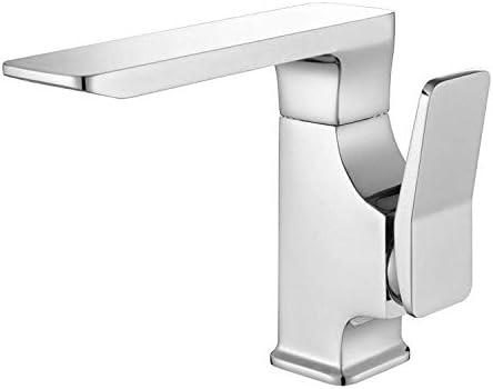 Gulakey バスルームのシンクは、スロット付き浴室の洗面台のシンクホットコールドタップミキサー流域の真鍮のシンクのホットとコールド銅の蛇口の滝流域の洗面台の蛇口クイックオープン単穴混合水の蛇口をタップ