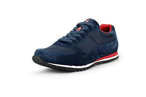 Sneakers Suede Prada - Prada Men's Scamosciato Nylon Low-top Sneakers, Oltremare (Marine-Blue) 4E2721 (8.5 US / 7.5 UK)