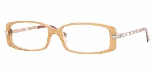Versace Women's 3113b Honey Frame Plastic Eyeglasses, 52mm