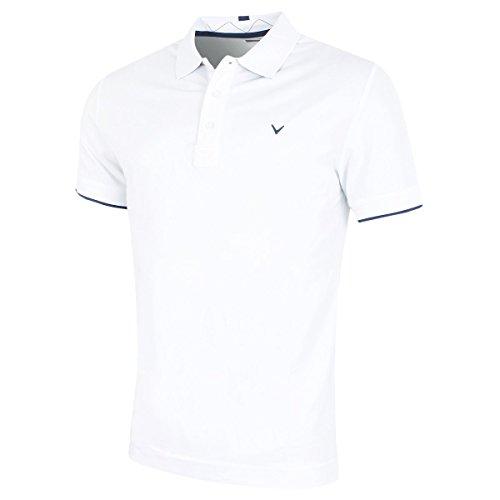 - Callaway Golf 2018 Mens Opti-Dri X Range Contrast Tipped Polo Shirt Bright White XL
