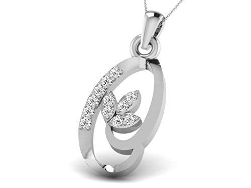 Or Blanc 18 ct Pendentifs Diamant , 0.04 Ct Diamant, GH-SI, 0.72 grammes.