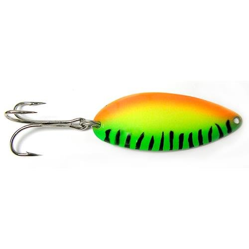 Acme Little Cleo Firetiger Spoon, 1/3-Ounce, Orange/Yellow/Green