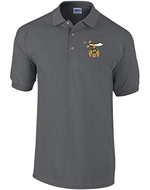 Shriners Polo Golf Shirt Masonic Apparel Personalized Clothing- Mens Dress Shirt