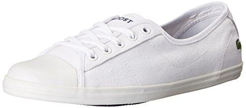Lacoste Women's Ziane LCR 2 Fashion Sneaker, White, 6.5 M US
