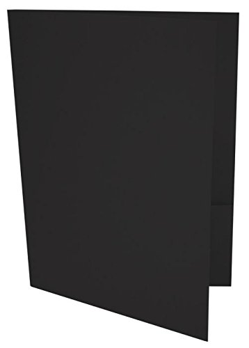 9 x 12 Presentation Folders - Black Linen (100 Qty) | Perfect for Tax Season, Brochures, Sales Materials and so Much More!| -