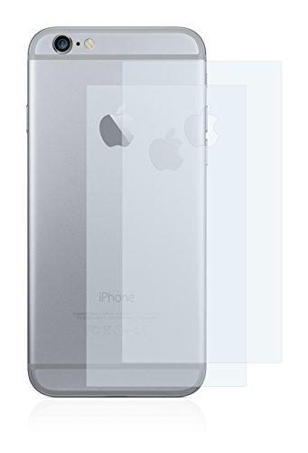 2x BROTECT Matte Pellicola Protettiva Opaca per Apple iPhone 6 Plus Posteriore (superficie centrale + LogoCut) Proteggi Schermo Opaco, Antiriflesso