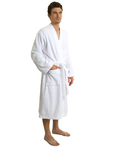 towelselections men 39 s robe turkish cotton terry kimono import it all. Black Bedroom Furniture Sets. Home Design Ideas