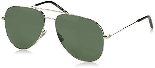 Sunglasses Saint Laurent CLASSIC 11 020 SILVER / GREEN / SILVER
