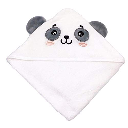 SWEET DOLPHIN Baby Hooded Bath Towel (Panda, 30×30 INCH)