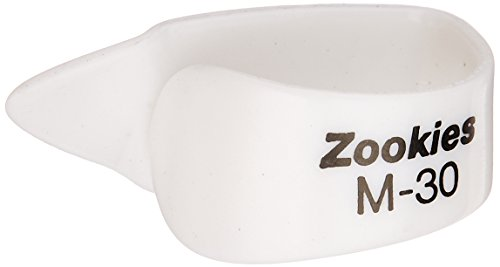 Dunlop Z9002M30 Zookies Thumbpicks, White, Medium 30⁰, 12/Bag (Dunlop Zookies Thumb Picks)