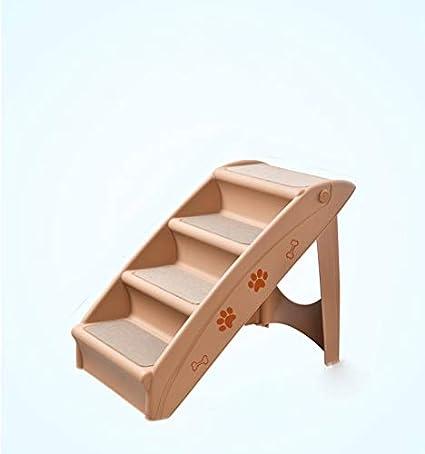 DHINGM Perro de compañía que sube escaleras altas, peldaños de plástico, va a la escalera de la cama Coche Gato pequeño Perro Escalera plegable antideslizante, duradera, uso a largo plazo, no es