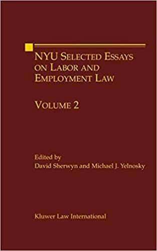 Synthesis Essay Topics Nyu Selected Essays On Labor And Employment Law Volume  Nyu Working Essay  Series Michael J Yelnosky  Amazoncom Books Thesis Statements Examples For Argumentative Essays also Example Of A Thesis Essay Nyu Selected Essays On Labor And Employment Law Volume  Nyu  Starting A Business Essay