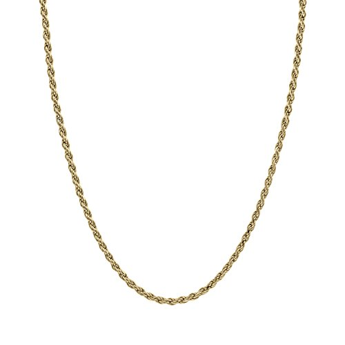 Honolulu Jewelry Company 14K Solid Yellow Gold Rope Chain Necklace