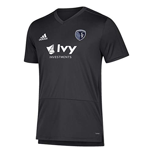 adidas Sporting Kansas City MLS Men's Black Climacool 2018 Training Jersey (L)
