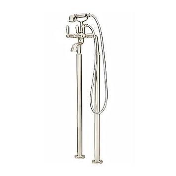 Pfister LG61TFK Traditional Free Standing Tub Filler, Brushed Nickel ...