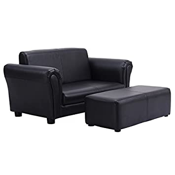 Amazon.com: Black Kids Sofa Armrest Chair Couch Children Living ...